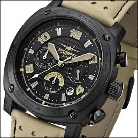 Firefox Watches  BATTLESHIP Men's Chronograph. Pilot Watch FFS22-110 tan