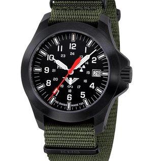 KHS Tactical Watches KHS Black Platoon LDR | Nato strap black olive