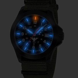 KHS Tactical Watches KHS Black Platoon LDR | Natoband Olive