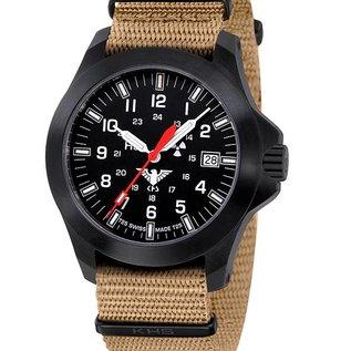KHS Tactical Watches KHS Black Platoon LDR   Nato strap tan