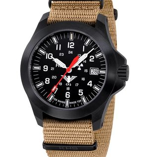KHS Tactical Watches KHS Black Platoon LDR   Natoband black Tan