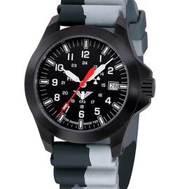 KHS Tactical Watches KHS Black Platoon LDR | Diver strap Camouflage Grey
