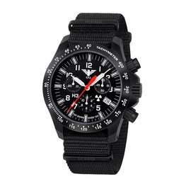 KHS Tactical Watches Black Platoon LDR Chronograph | NATO Black