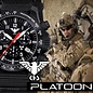 KHS Tactical Watches Black Platoon LDR Chronograph with Diver band Black