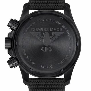 KHS Tactical Watches Black Platoon LDR Chronograph with NATO band olive