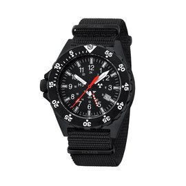 KHS Tactical Watches Military Watch SHOOTER GMT | NATO Strap Black