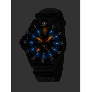 KHS Tactical Watches KHS Shooter GMT Natoarmband Black | KHS.SHG.NB |