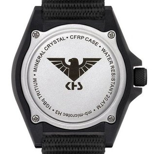 KHS Tactical Watches Military Watch SHOOTER GMT | Rubber Strap Black