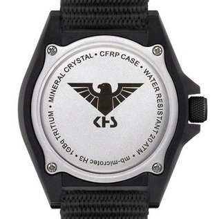 KHS Tactical Watches Military Watch SHOOTER GMT   Rubber Strap Black