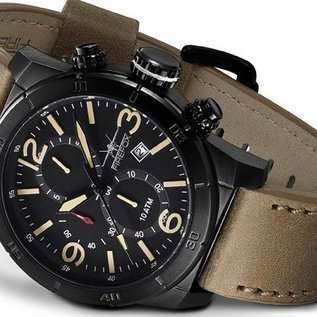 Firefox Watches  FIREFOX SOLDIER Chronograph black / tan | FFS255-110
