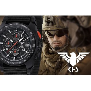 KHS Tactical Watches KHS Sentinel Military Chronograph | Nato Black