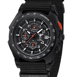 KHS Tactical Watches Sentinel AC Chronograph Black | Natoband Black