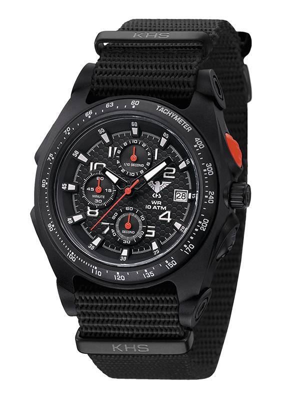 khs tactical watches black sentinel chronograph stopwatch. Black Bedroom Furniture Sets. Home Design Ideas