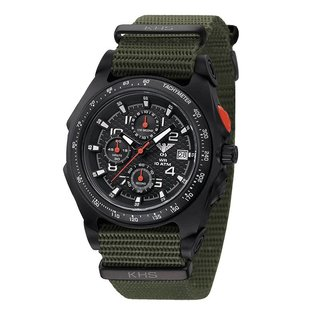 KHS Tactical Watches KHS Sentinel AC Military Chronograph, Nato Strap Olive