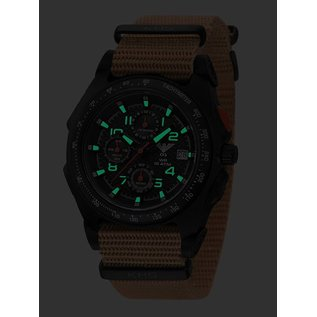 KHS Tactical Watches KHS Sentinel AC Military Chronograph, Nato Strap TAN