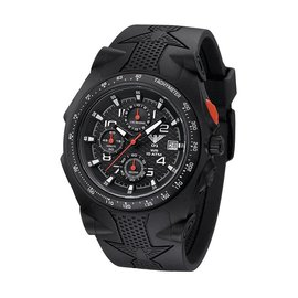 KHS Tactical Watches Sentinel AC Chronograph Black | Silikon Armband