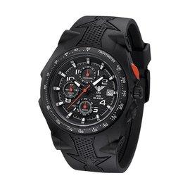 KHS Tactical Watches Sentinel AC Chronograph Black | Silikon Armband