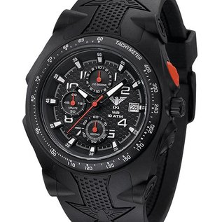 KHS Tactical Watches KHS Sentinel AC Military Chronograph,Rubber Strap black.