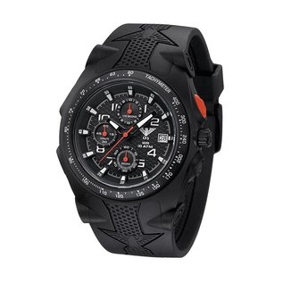 KHS Tactical Watches Sentinel AC, Chronograph Black | Silikonband Black