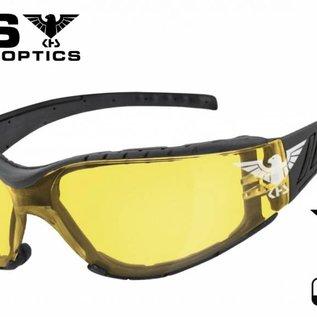 KHS Tactical Optics Sunglasses Tactical eyewear with padding Basic Yellow