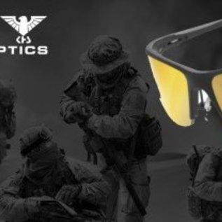KHS Tactical Optics Gelbe Einsatzbrille, Sonnenbrille mit Polster KHS.101-a Ready for Mission
