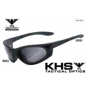 KHS Tactical Optics Graue Einsatzbrille, Sonnenbrille mit Polster KHS-101-a Ready for Mission