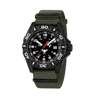 KHS Tactical Watches tactical Watches | Reaper Nato band Olive | RED HALO H3 lighting system