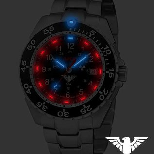 KHS Tactical Watches Einsatzuhr Enforcer Steel MK3, Edelstahlarmband