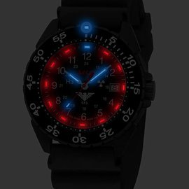 KHS Tactical Watches Enforcer Black Steel MK3 | Black Diver Strap