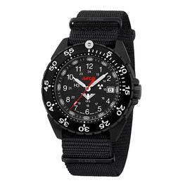 KHS Tactical Watches Enforcer Black Steel MK3 | Nato- Band Black