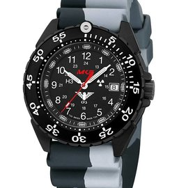 KHS Tactical Watches Enforcer Black Steel MK3 | Diverband Camouflage Black