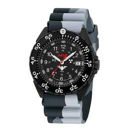 KHS Tactical Watches Enforcer Black Steel MK3 | Camouflage diver bracelet - Copy