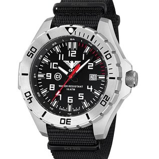 KHS Tactical Watches KHS Special operations Watch Country Leader Steel with Nato Strap Black