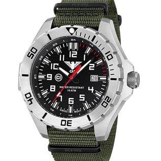 KHS Tactical Watches Einsatzuhr Landleader Steel mit Natoband Olive