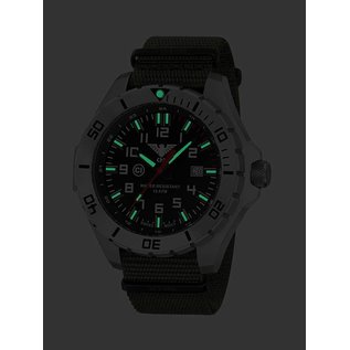 KHS Tactical Watches Einsatzuhr Landleader Steel mit Natoband Olive