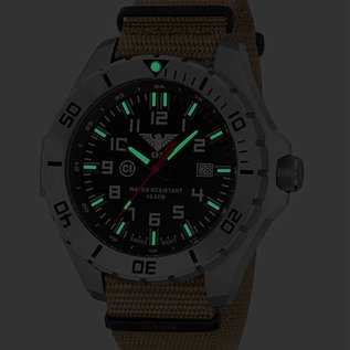 KHS Tactical Watches Einsatzuhr Landleader Steel mit Natoband Tan