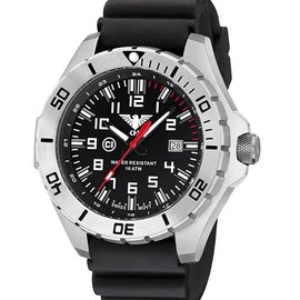 KHS Tactical Watches Landleader Steel mit Diver Band Black