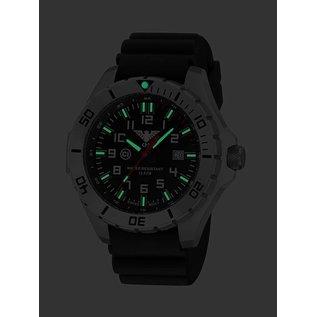 KHS Tactical Watches KHS Einsatzuhr Landleader Steel mit Diver Band Black