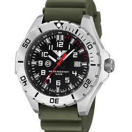 KHS Tactical Watches Country Leader Steel with Nato band green