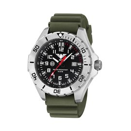 KHS Tactical Watches Landleader Steel mit Diver Band Olive