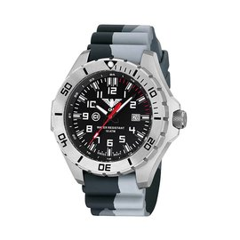 KHS Tactical Watches Country Leader Steel with Camouflage band grey