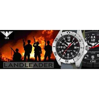 KHS Tactical Watches KHS Tactical Watches Einsatzuhr Landleader Steel mit Silikonband Camouflage Olive