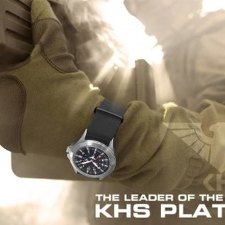 KHS Tactical Watches KHS Black Platoon Chronograph with Natostrap Olive