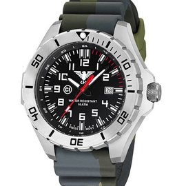 KHS Tactical Watches Country Leader Steel with Camouflage band green