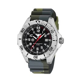 KHS Tactical Watches Landleader Steel mit Silikonband Camouflage Olive