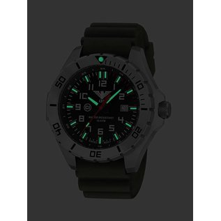 KHS Tactical Watches KHS Military men's Watch Landleader Steel with Camouflage band green