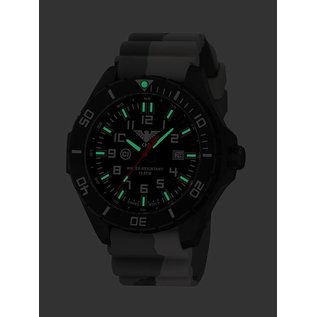 KHS Tactical Watches KHS Military men's Watch Landleader Steel with Camouflage StrapTan | KHS.LANBS.DC5
