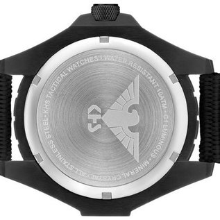 KHS Tactical Watches KHS Einsatzuhr Landleader Black Steel mit Natoband Black