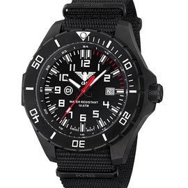 KHS Tactical Watches Landleader Black Steel mit Nato Armband Black | KHS.LANBS.NB