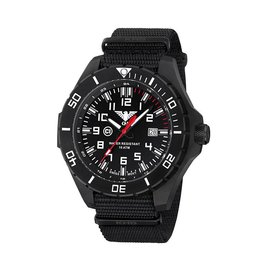 KHS Tactical Watches KHS Landleader Black Steel with Nato Strap Black | KHS.LANBS.NB